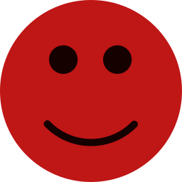 happy face icon red