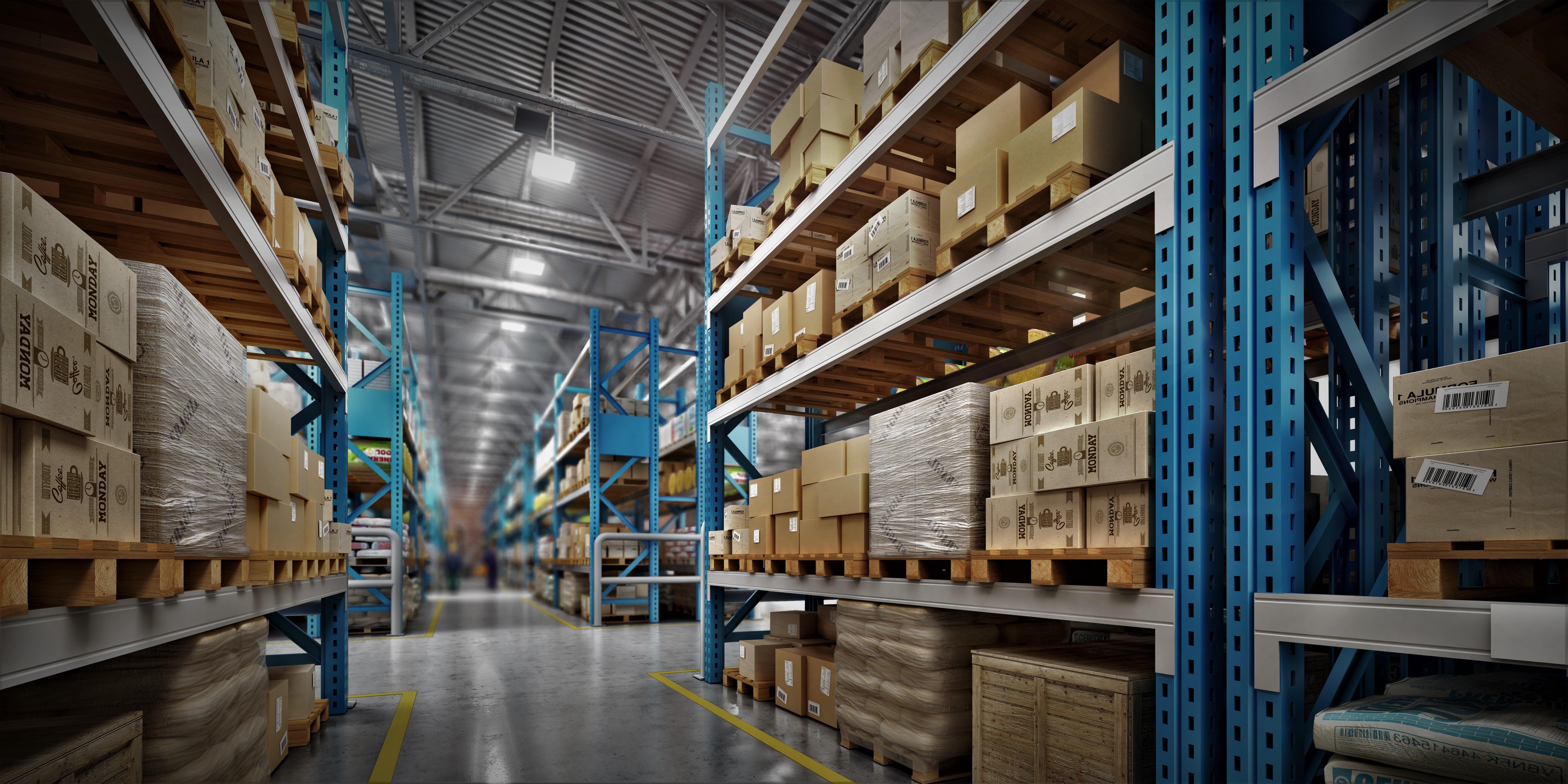 Warehouse full of cargo
