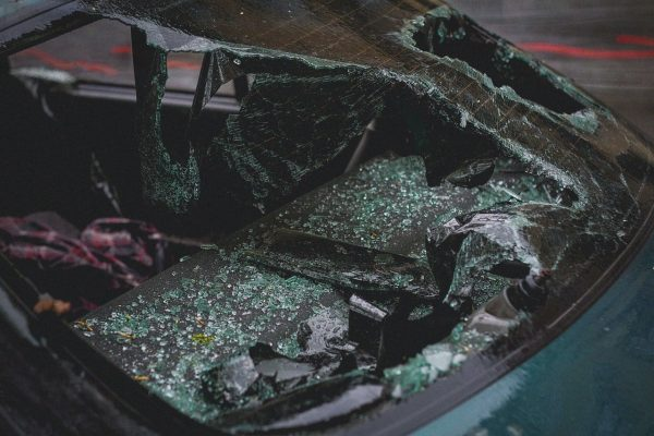 security problem for commercial plaza - vehicle damage