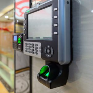 access control panel with finger print