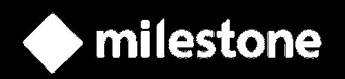 Milestone Logo - White