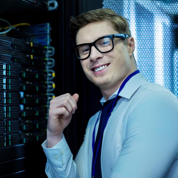 Happy Data Centre Worker
